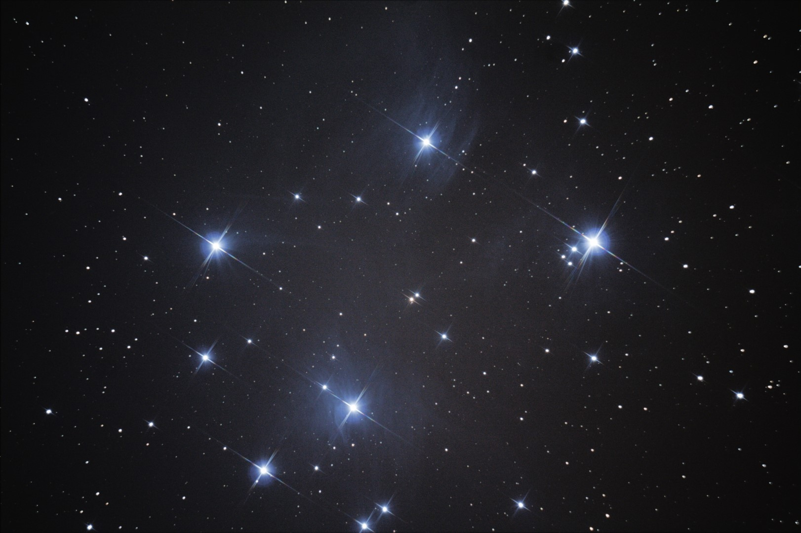 Astrophotography Pleiades Reflection Nebula M45 By Mathias Sorg