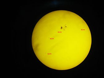 Sunspot R2192, by Jean-Luc Gaubicher